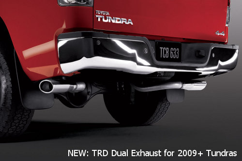 Toyota Tundra Trd. TRD Dual exhaust for 2009 2010